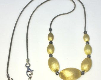 Brand New White Gold on 925 Solid Sterling Silver 16 inch Yellow Beads on Snake chain Necklace with Lobster Claw Clasp and Extension