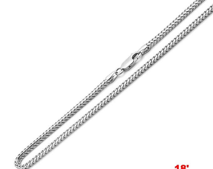"""Attention Getting Fashion Franco Chain .925 Sterling Silver - 1.5 MM 18 """""""