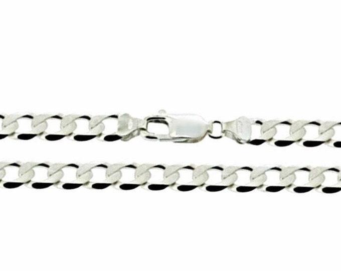 "Precious Italian Sterling Silver Anti-Tarnish Curb link Chain 5 MM 24 """