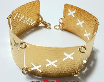 14k Yellow Gold Layer on 925 Silver Bracelet - 3RoyalDazzy.com Handmade Exclusive- 9