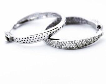 Stylish Sterling Silver Hoop Earrings