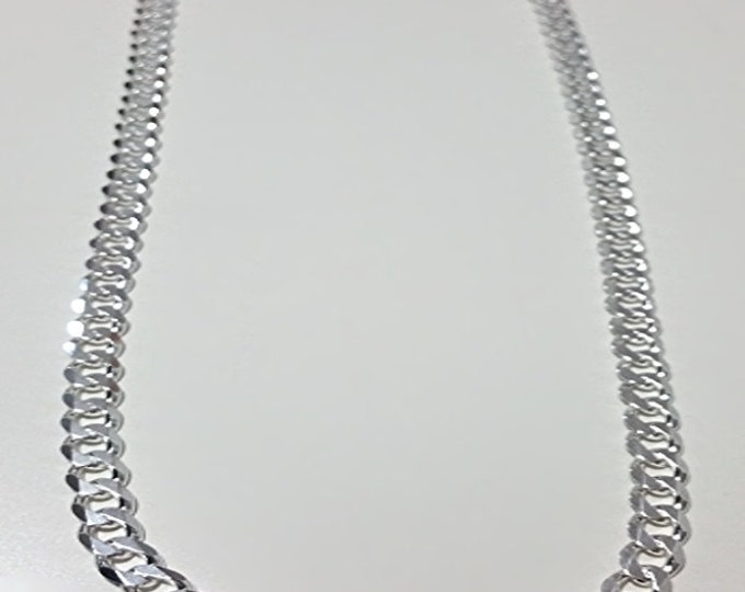 Men Women Children Sterling Silver Italian Cuban Curb Extra Thick Necklace 6.5mm 24""