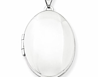 Anti Tarnish Sterling Silver Cool Oval Charm Picture Locket