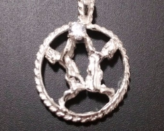 Astrology Zodiac Gemini Horoscope Birthday Anti Tarnish .925 Sterling Silver Pendant