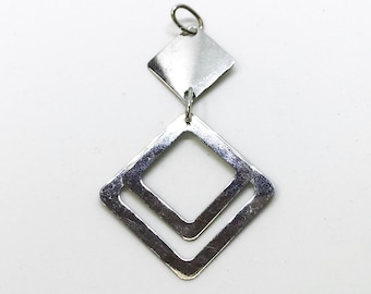 NEW .925 Sterling Silver Geometric Shaped Pendant