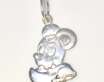Brand New 925 Solid Sterling Silver Medium Pendant with Cute Mouse on chinese Tael