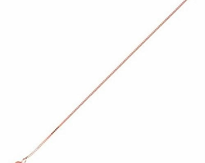 Italian Rose gold layered over .925 sterling silver - 1 mm box chain -18 ""