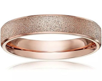 6mm Size13 Rose Gold plated on Stainless Steel wide unisex women men Ring Band