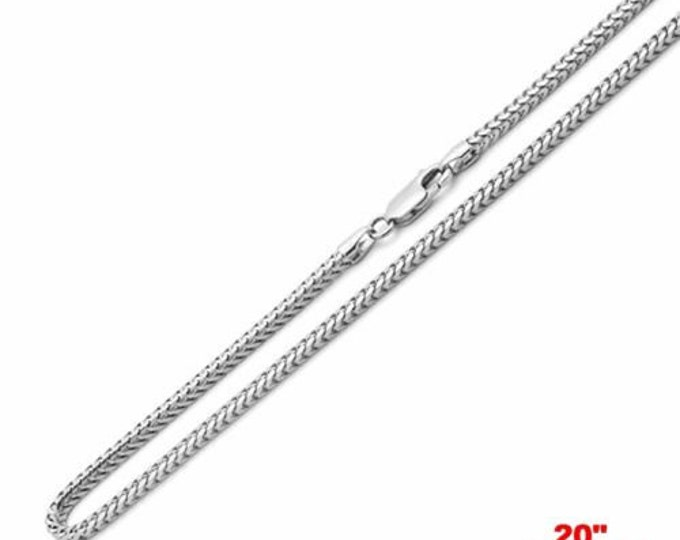 """New attention getting fashion italy franco chain 925 sterling silver - 1.5mm 20"""""""