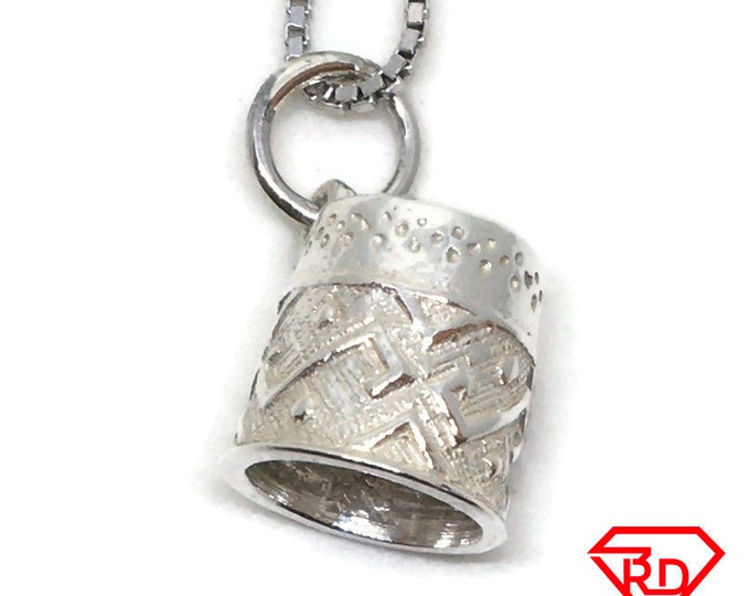 Cute Basket tiny charm pendant 925 Solid Silver