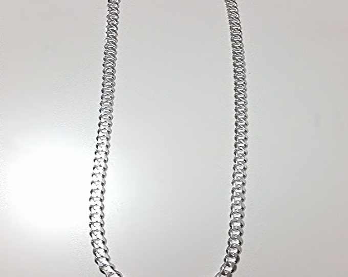 Men Women Children Sterling Silver Italian Cuban Curb Extra Thick Necklace 5.5mm 22""