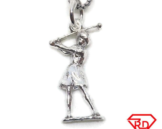 Women Golf charm pendant 925 Sterling Silver