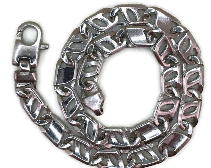 White gold layer on silver Bracelet Unique chain 9 inch