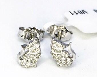 Cute Sterling Silver Cat Earrings