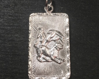 """New 925 silver Reversible Design Chinese character writing """"Happiness """" &  Dog Zodiac Charm Pendant"""