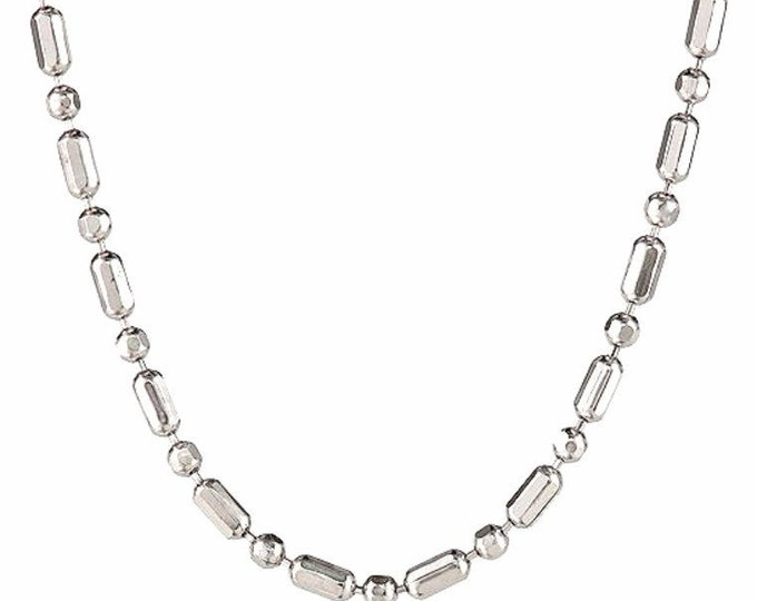 """18k white gold layered over .925 sterling silver -1 mm 1+1 diamond cut chain - 16 """""""