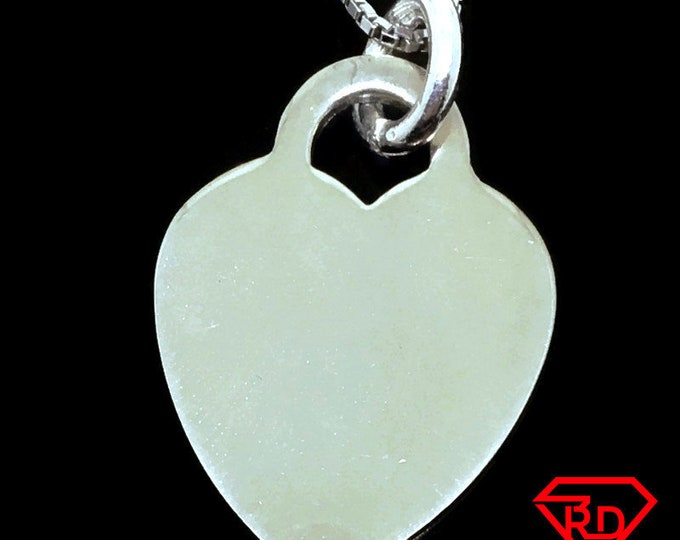 Large Love Heart charm pendant 925 Sterling Silver