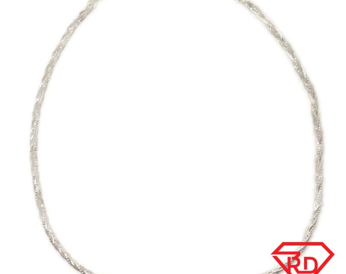 Brand New Anti-Tarnish 925 Sterling Silver Necklace 16 inch Twisted wheat chain with Lobsterclaw Clasp ( 3 . 6 mm  )