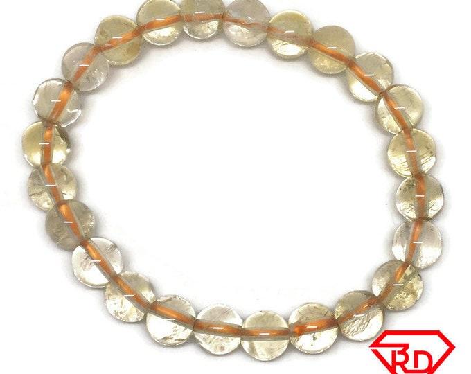 White transparent Crystal beads Elastic Bracelet