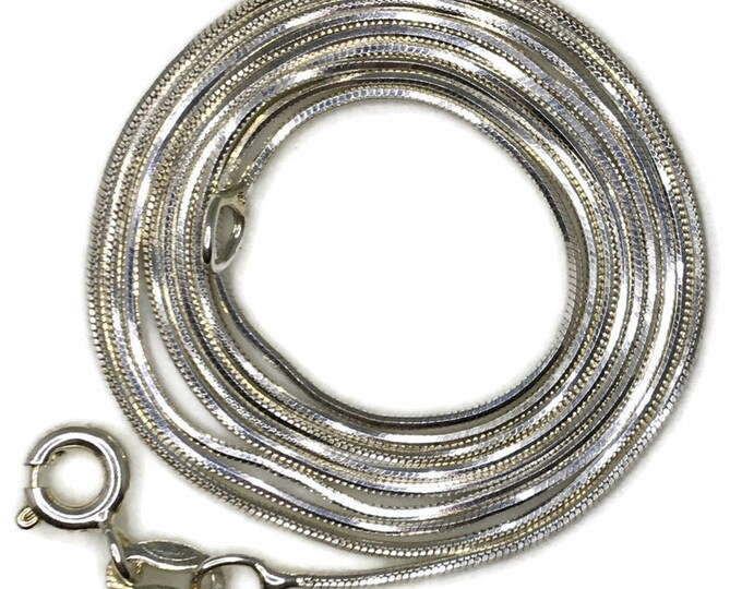 thin small snake chain 24 inch anti-tarnish silver necklace