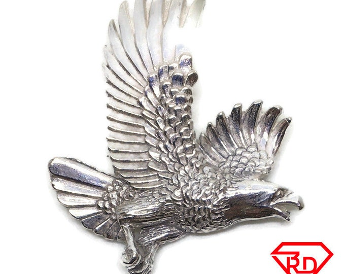 Flying Eagle charm pendant 925 Solid Silver