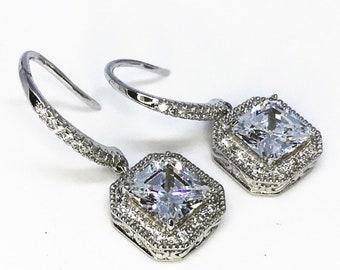 Fancy Sterling Silver Dangling Earrings