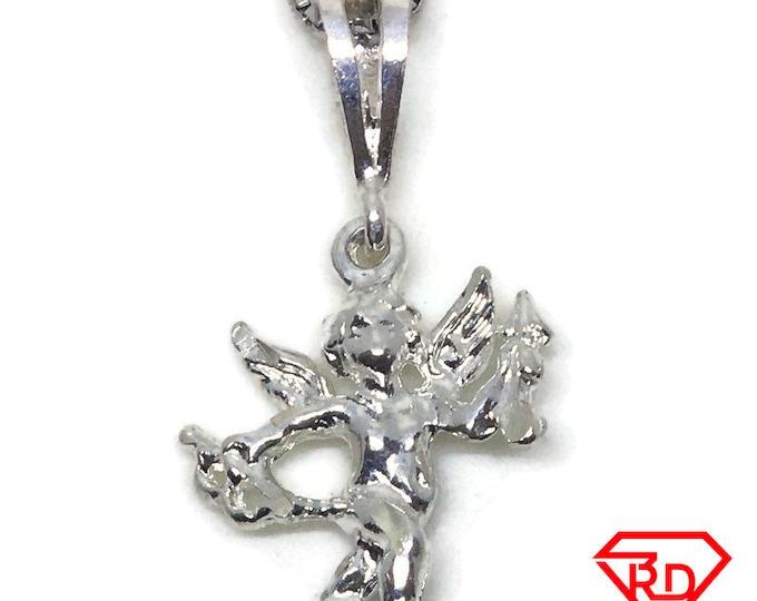 Cute Cupid angel charm pendant 925 Sterling Silver