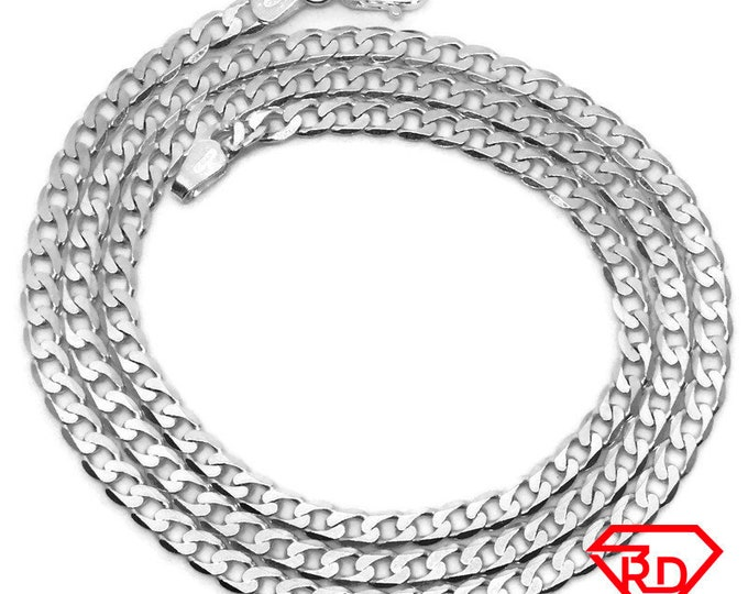 Small curb Chain 20 inch Necklace 925 Solid Silver