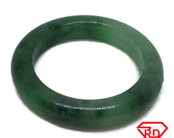 Smooth Plain Round green Baby jade ring Band (Size 3)