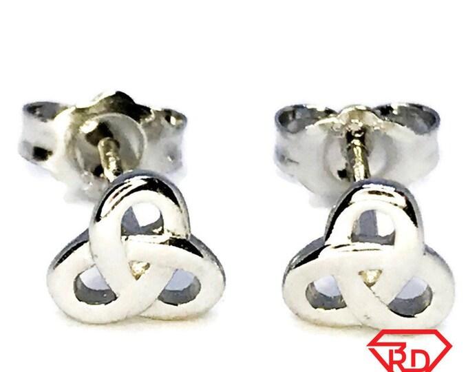 Sterling Silver Interlacing Earrings