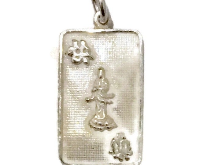 New  Silver Pendant quanyin goddess of mercy ( 14 . 2 mm )