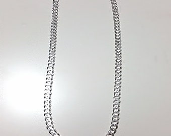 Men Women Children Sterling Silver Italian Cuban Curb Extra Thick Necklace 5.5mm 30""
