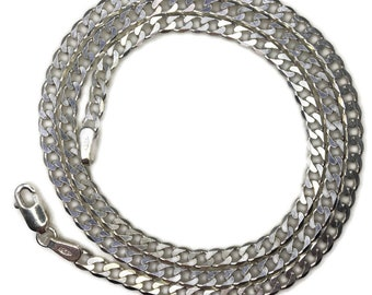 thin small Curb chain 16 inch anti-tarnish silver necklace