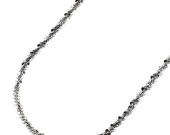 """18k white gold layered 925 Silver Popcorn Sparkle Rock Italian Necklace Chain- 2 mm 22 """""""