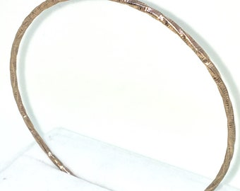 New Rose Gold Layered on 925 Solid Sterling Silver Bangle Bracelets plain full round twisted circle slip in