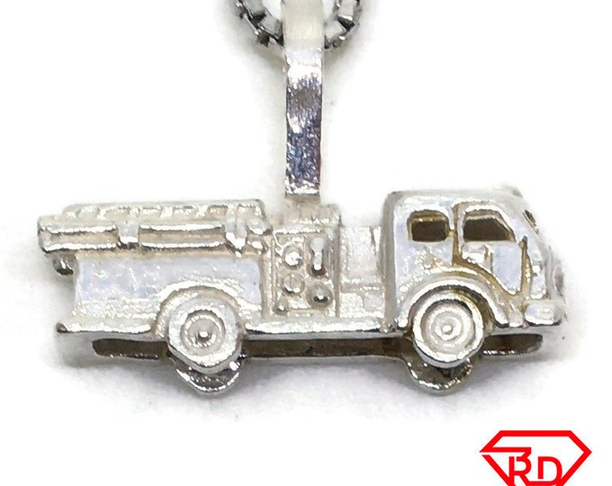 Truck Car tiny charm pendant 925 Solid Silver