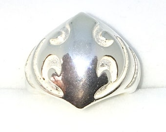 New Handcraft 925 Solid Sterling Silver Ring band with Tribal symbol
