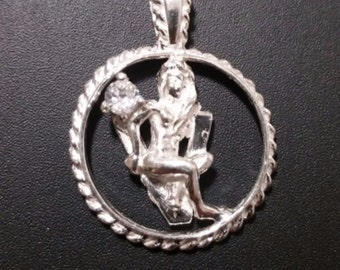 Astrology Zodiac Virgo Horoscope Birthday Anti Tarnish .925 Sterling Silver Pendant