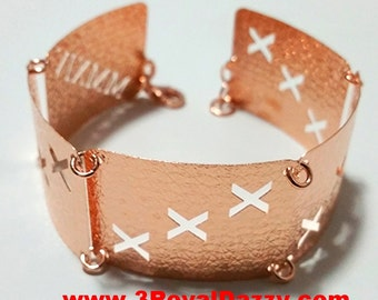 14k Rose Gold Layer on 925 Silver Bracelet - 3RoyalDazzy.com Handmade Exclusive- 11