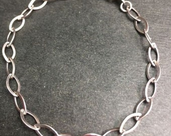 New 14k layer on solid .925 sterling silver rings for charms link bracelet-7.75""