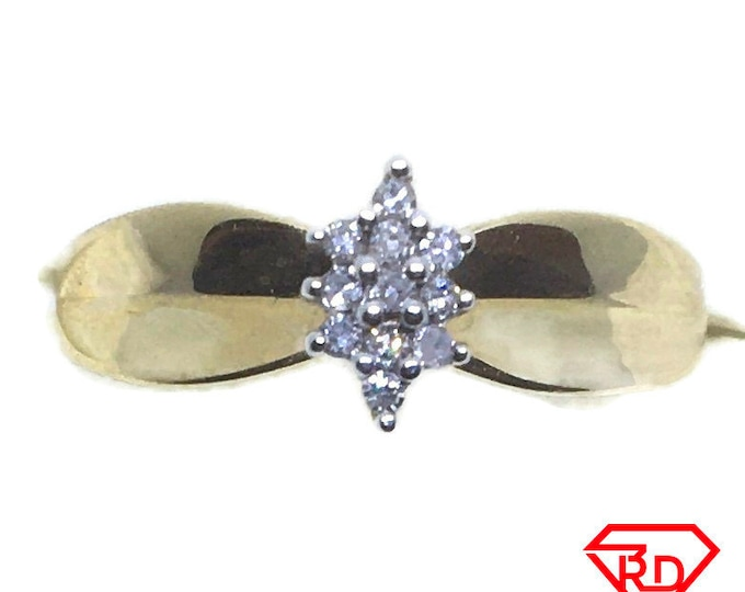 Artistic small Diamond ring 14k Double gold S6