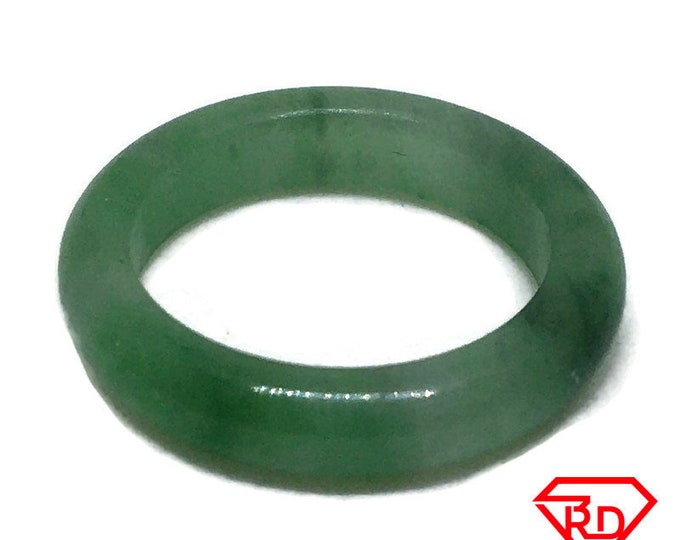 Smooth Plain Round Light green Baby jade ring Band (Size 3)
