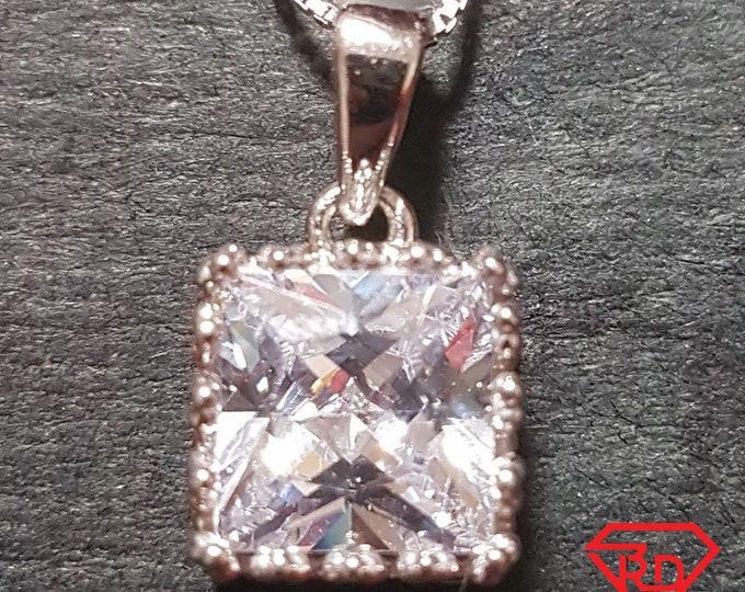 New 14k White Gold On 925 King Crown Pendant Charm