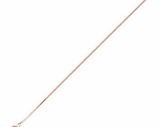 """Italian Rose gold layered over .925 sterling silver - 1 mm box chain -18 """""""