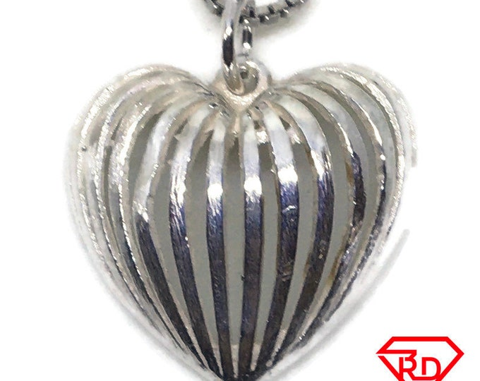 Handcraft Heart small charm pendant 925 Solid Silver
