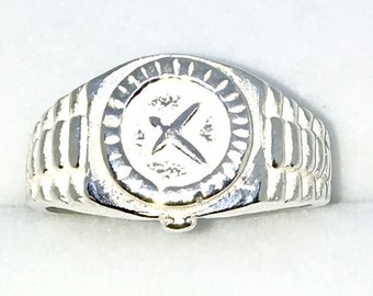 New Handcraft 925 Solid Sterling Silver ring band with wrist watch shape