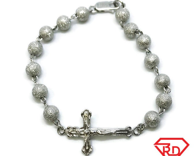 NEW .925 Sterling Silver Jesus Christ Cross Bracelet