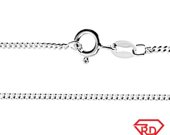 "Precious Italian Anti-Tarnish Sterling Silver strong Curb link Chain 2 MM 16 """