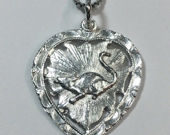 """New 925 Silver Chinese Character Writing """"Healthy"""" &  mouse Heart Charm Pendant Reversible Design"""