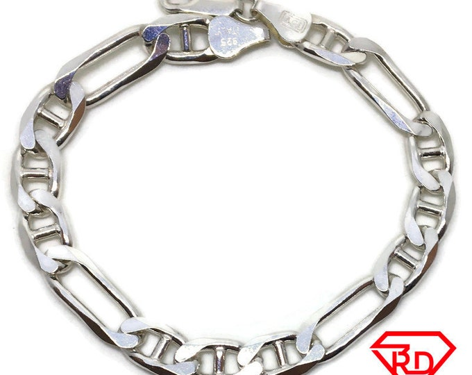 Figaro Chain 7 inch Bracelet 925 Solid Silver